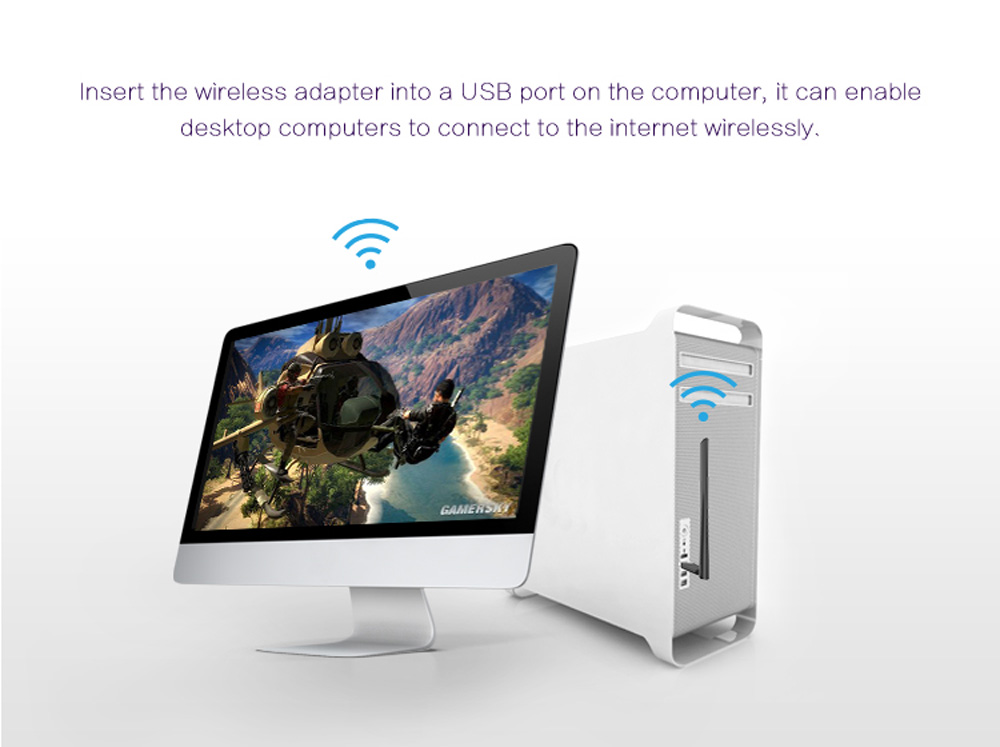 WiFiSKY 150Mbps 11n WiFi + USB Аадптер
