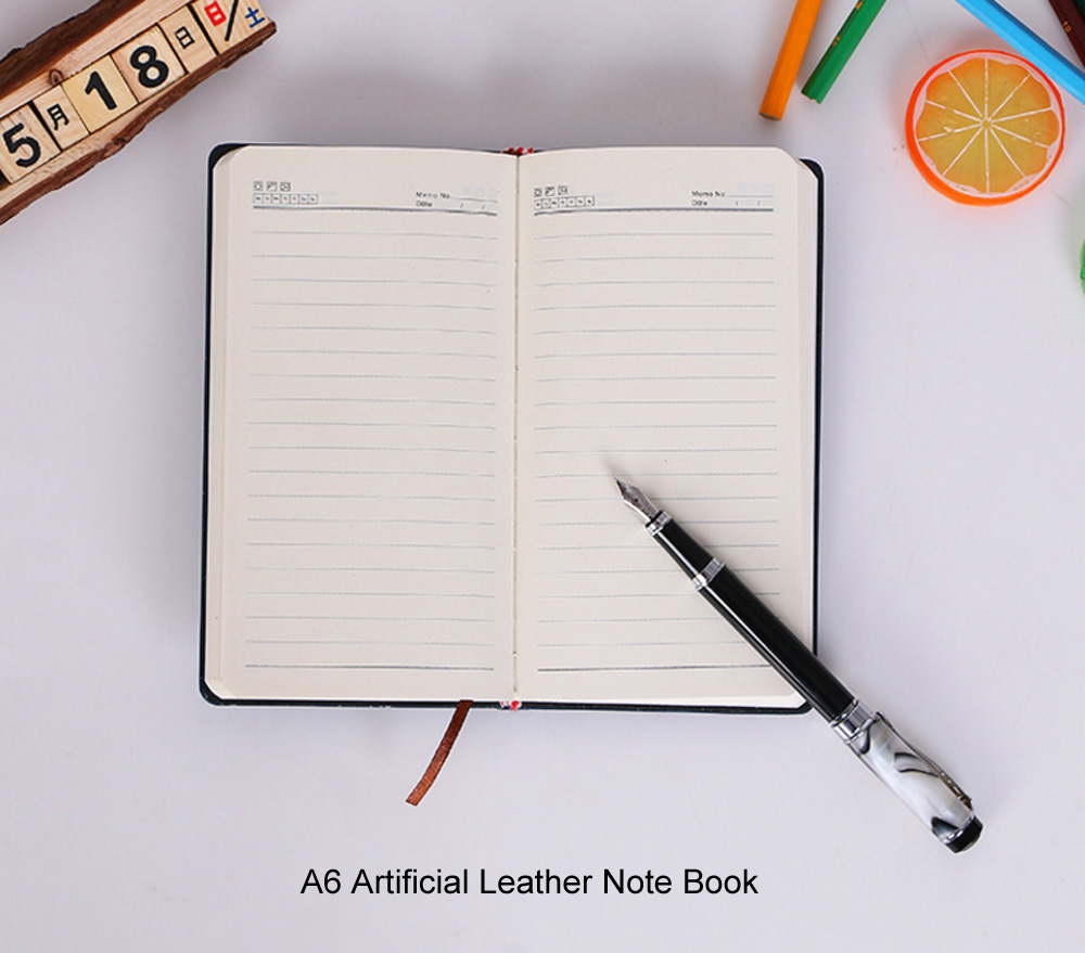 A6 Exquisite Note Book Artificial Leather Notebook