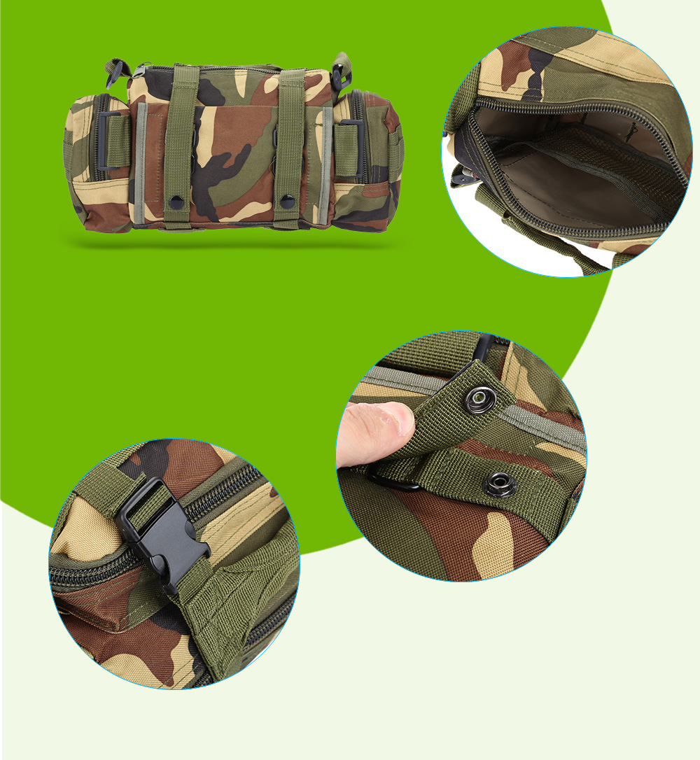 BL015 Water-resistant Oxford / Nylon 8L Waist Bag with Strap / MOLLE System