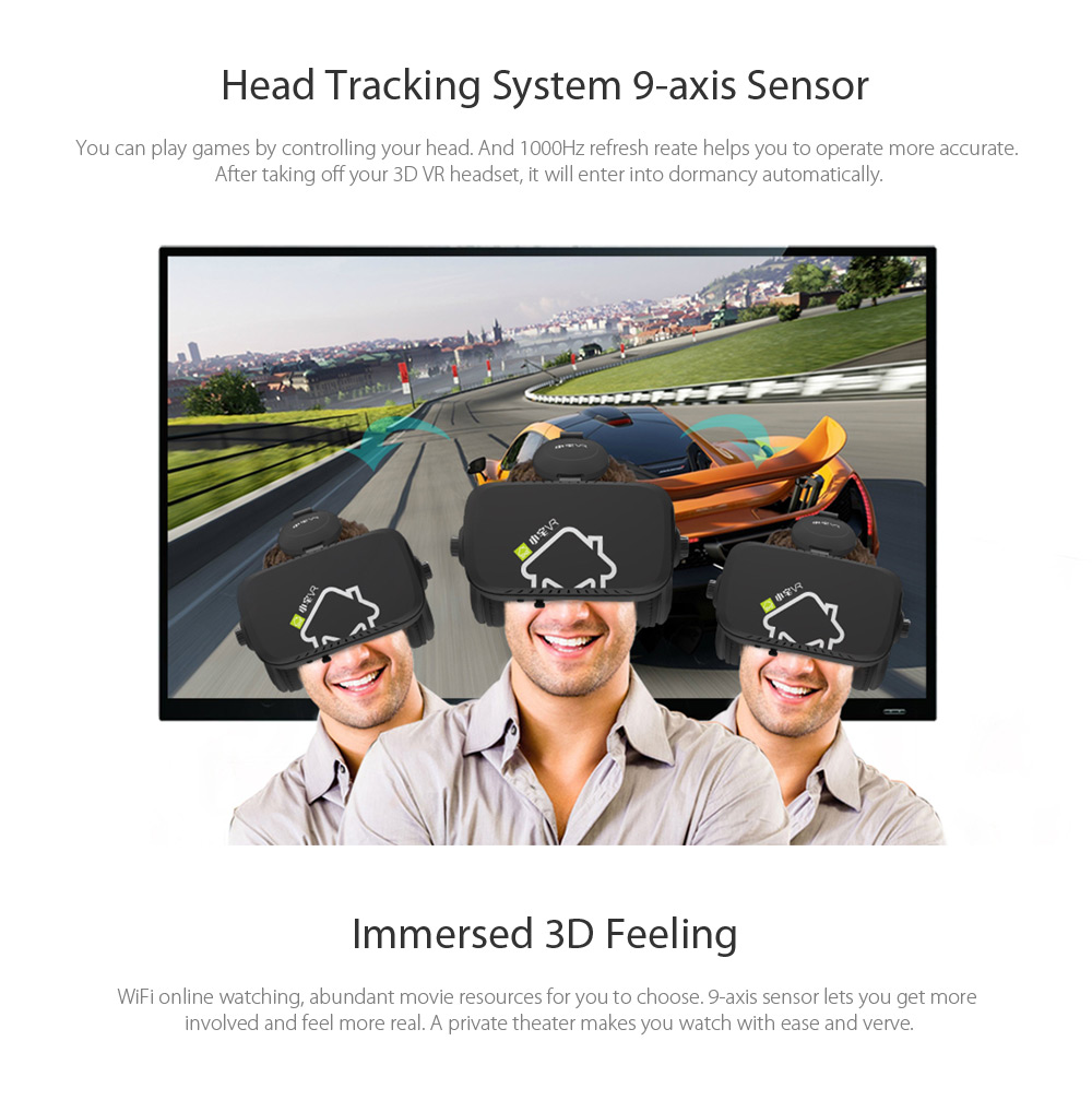 Xiaozhai VR 5.5 inch 1080P All-in-one 3D Headset with 9-axis Sensor