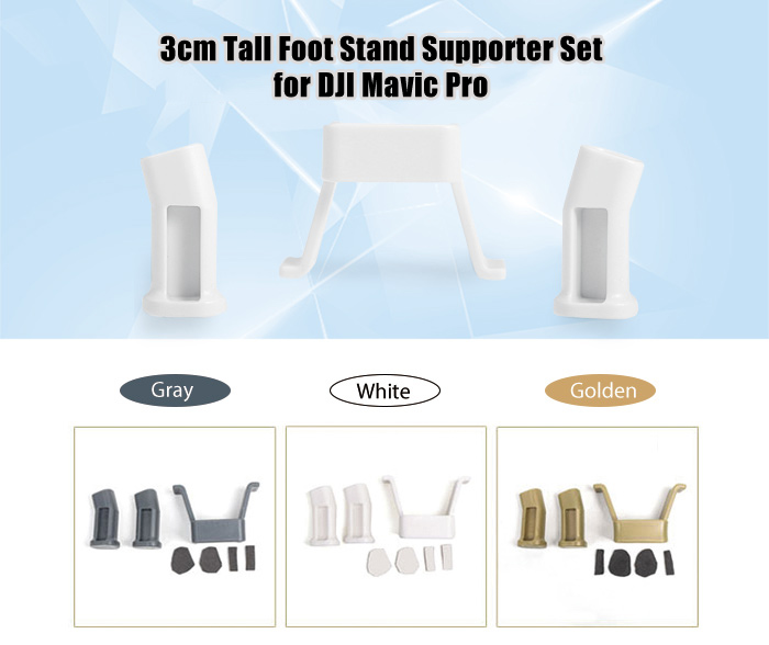 3cm Tall Foot Stand Supporter Pack for DJI Mavic Pro