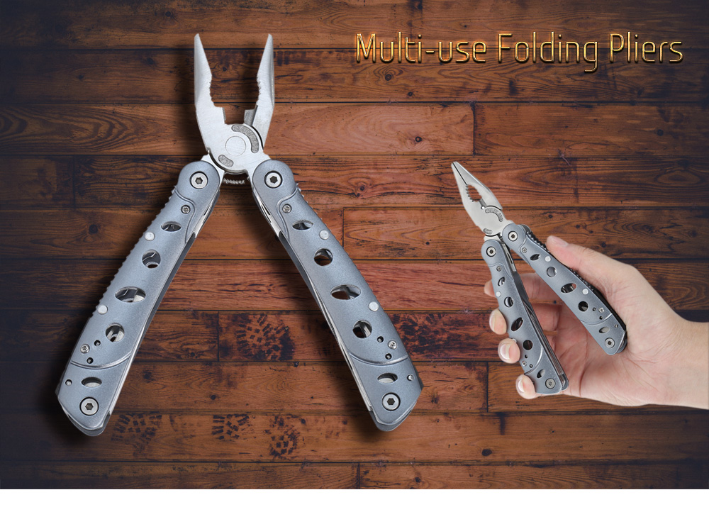 Stainless Steel 22 Functions Multi-use Folding Pliers with Aluminum Alloy Handle