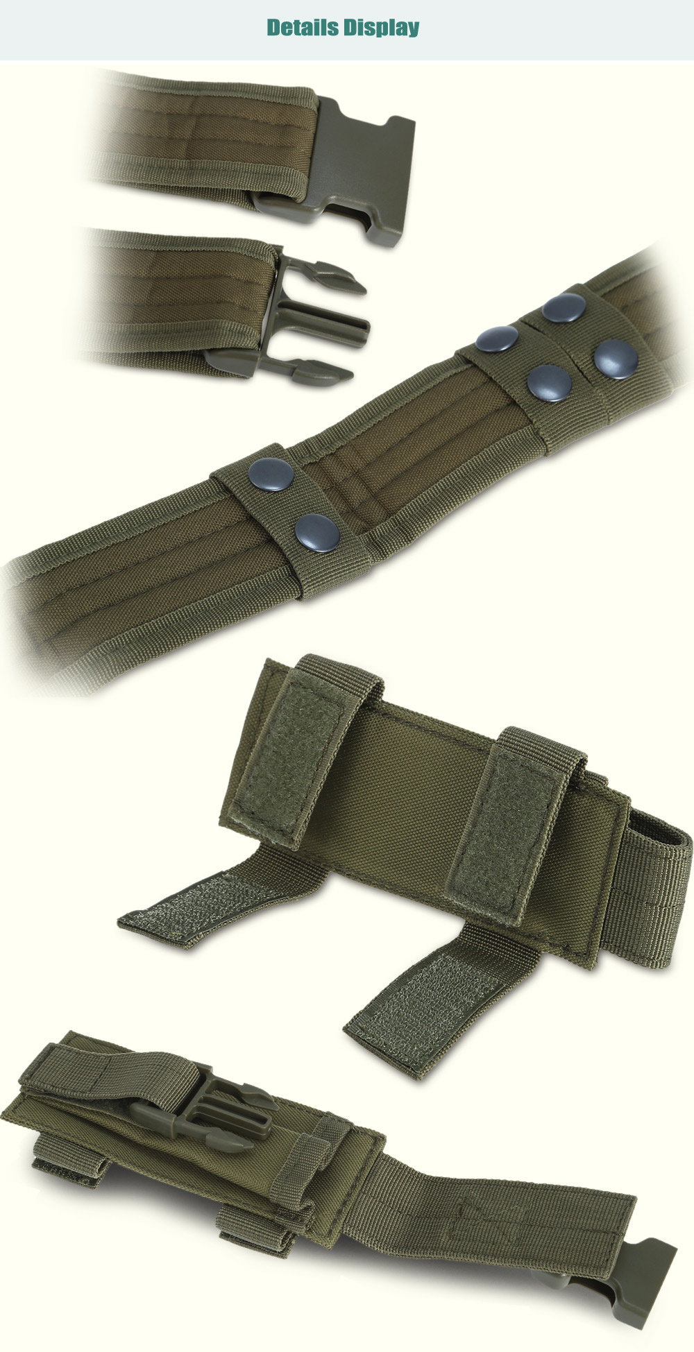 Multifunctional Outdoor Tactical Belt with Double Multi-tool Pouches