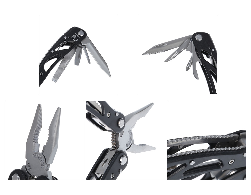 Chengtian Stainless Steel Multi-functions Multi-use Folding Pliers with Anti-slip Handle