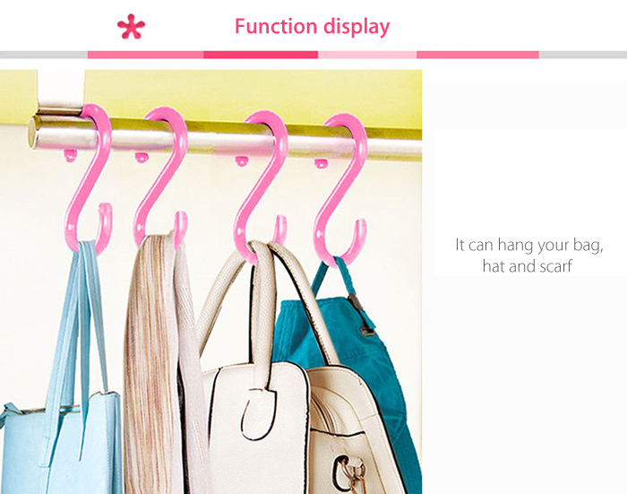 4PCS SUMSHUN Multifunctional S-shaped Hook for Home Office