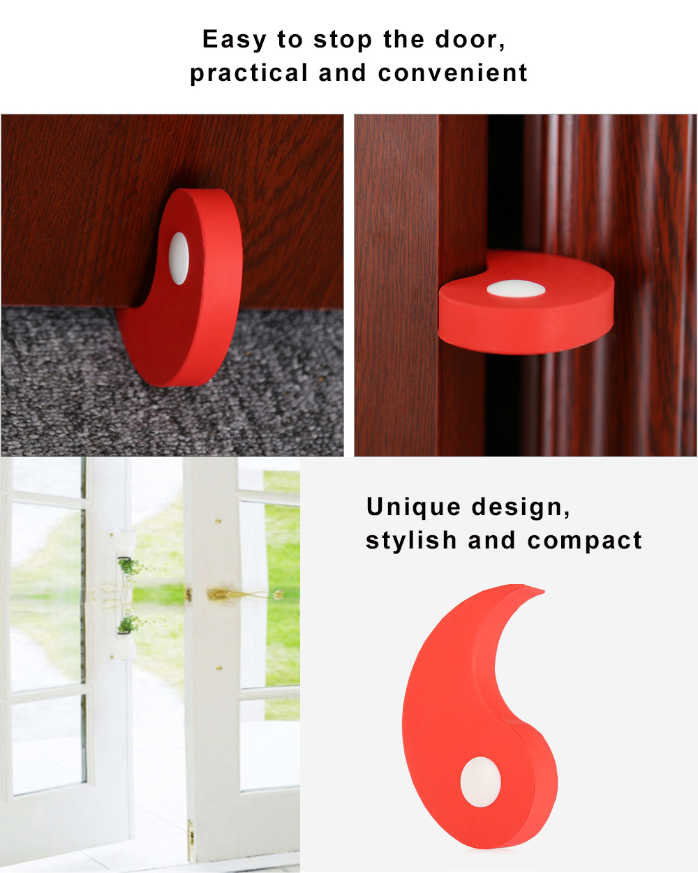Multifunctional Mini Door Stopper for Home Office