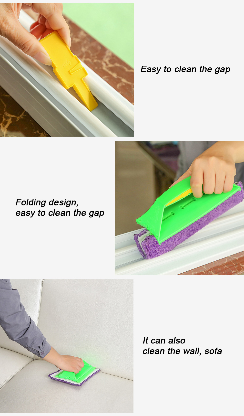 Multifunctional Portable Handheld Window Glass Mop