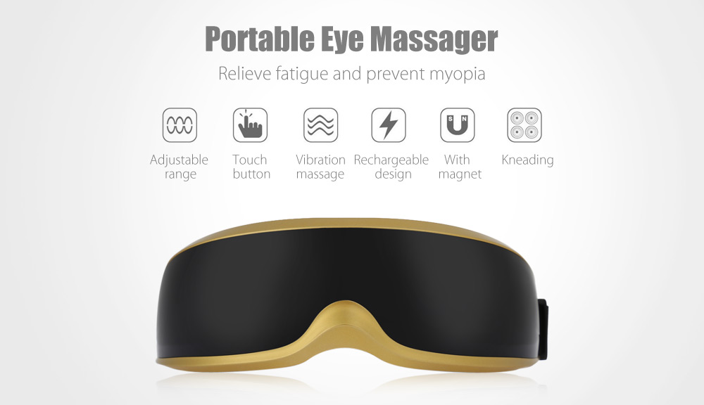 RMK - 018B Portable Wireless Rechargeable Vibration Eye Massager