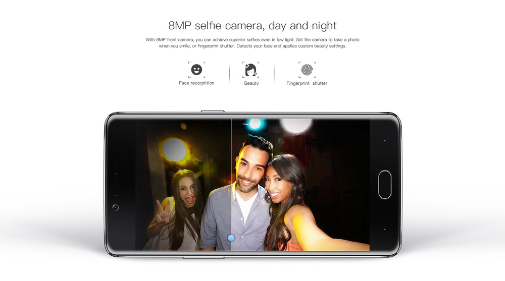 Doogee Shoot 1 4G Phablet Android 6.0 5.5 inch MTK6737 1.5GHz Quad Core 2GB RAM 16GB ROM 8.0MP + 13.0MP Rear Cameras