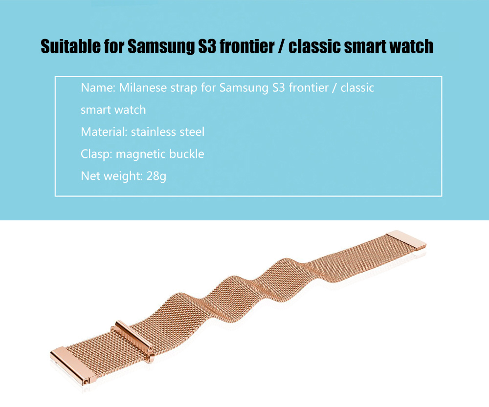20mm Milanese Wristband for Samsung S3 frontier / classic Smart Watch