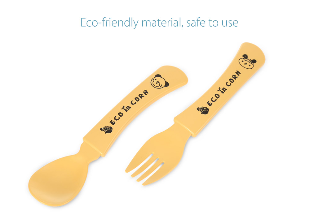 ECO in CORN Baby Infant Cute Eco-friendly Spoon Fork