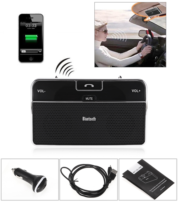 BT LD - 168 Car Vehicle Mounted Wireless Bluetooth 4.0 + EDR for Mobile Phone Tablet
