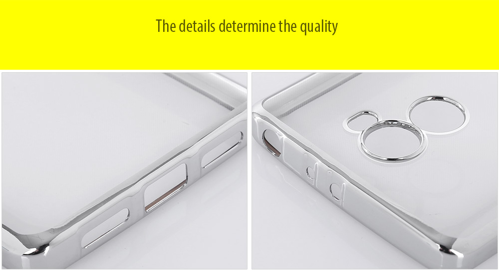 Luanke TPU Soft Protective Phone Case for Xiaomi Redmi 4 Standard Edition Electroplated Edge Transparent Shell
