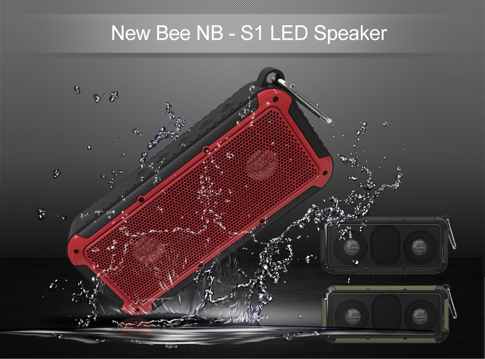 New Bee NB - S1 LED Speaker Bluetooth 4.0 Portable Wireless Music Player