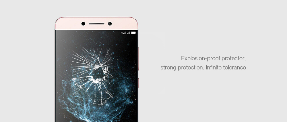 Luanke Tempered Glass Screen Film for LeEco Le Max2 Ultra-thin 0.26mm 2.5D 9H Explosion-proof Protector