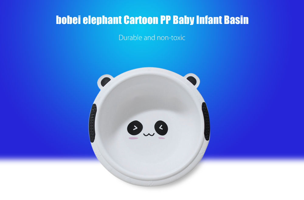 bobei elephant Cartoon Baby Infant Basin Wash Bowl PP Material