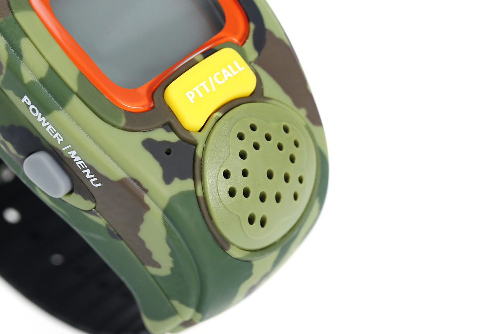 008 2pcs Wrist Watch Shaped Walkie Talkie with Adjustable Band