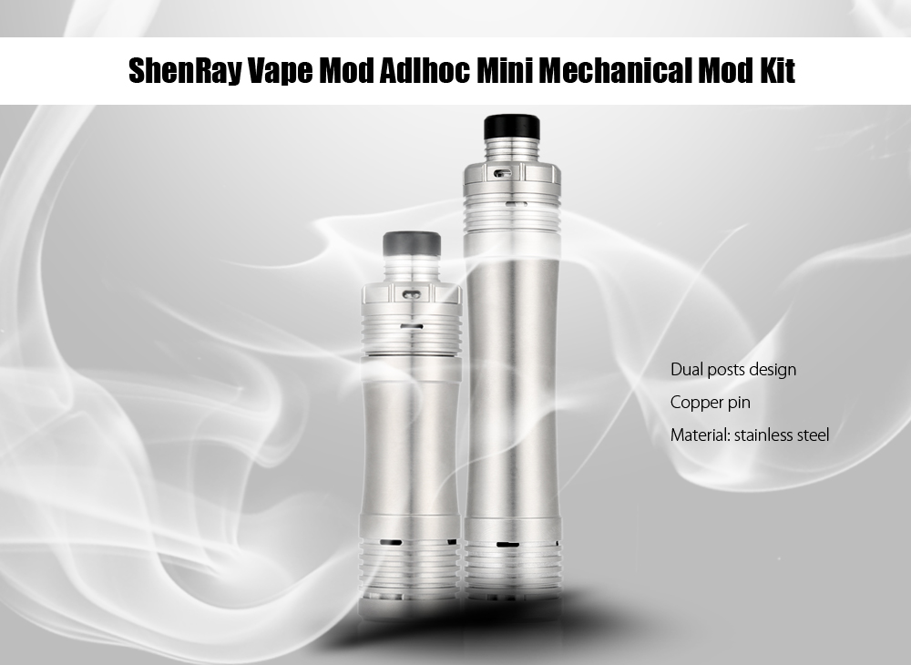 Original ShenRay Vape Mod Adlhoc Mini Mechanical Mod Kit with Three Different Mods / Dual Posts RDA for E Cigarette