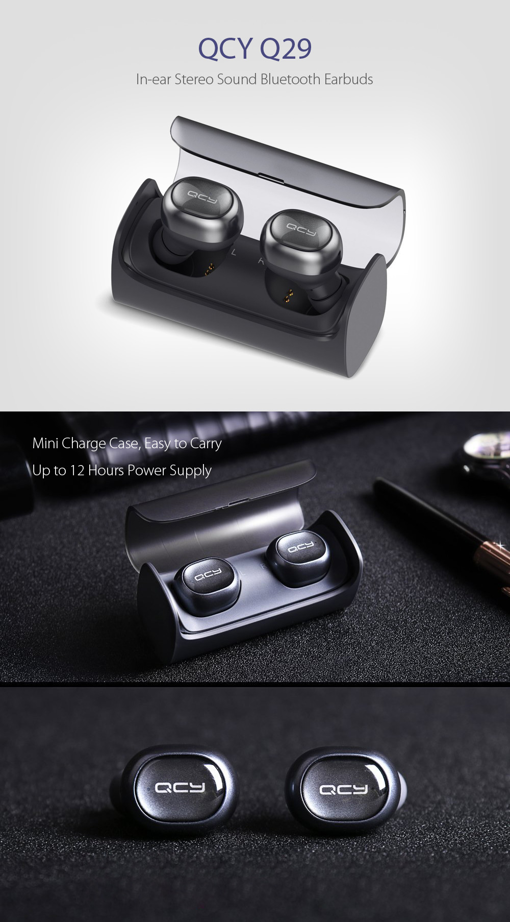 QCY Q29 In-ear Stereo Sound Bluetooth Earphones