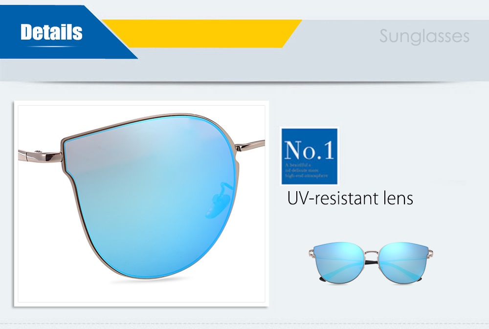 86010 UV-resistant Sunglasses Eyewear with PC Lens / Metal Frame