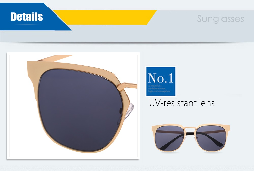 2255 UV-resistant Sunglasses Eyewear with PC Lens / Metal Frame