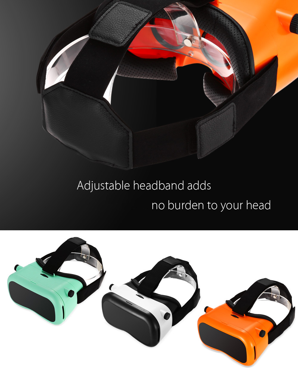 SENKAMA 3D VR Glasses with IPD Adjustment for 4.7 - 6 inch Phones