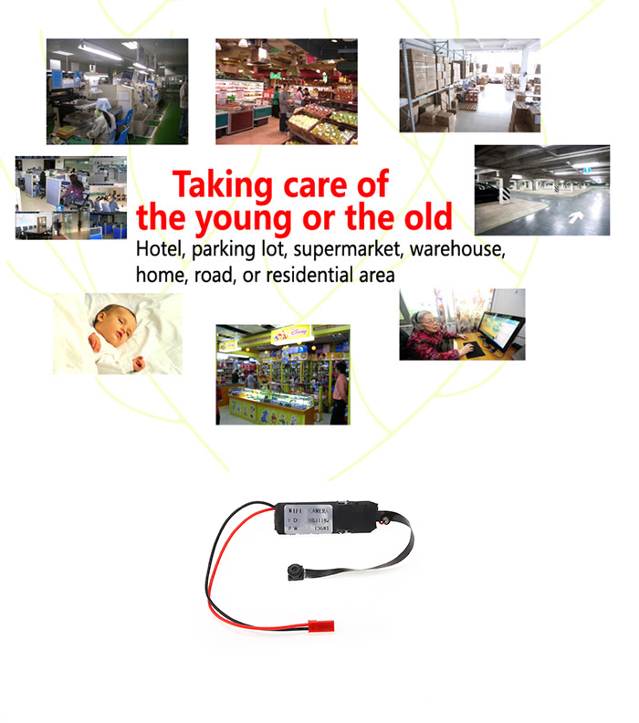 DIY Module Wireless WiFi HD IP Hidden Camera Home Security Monitor Mini DVR Support TF Card 32GB