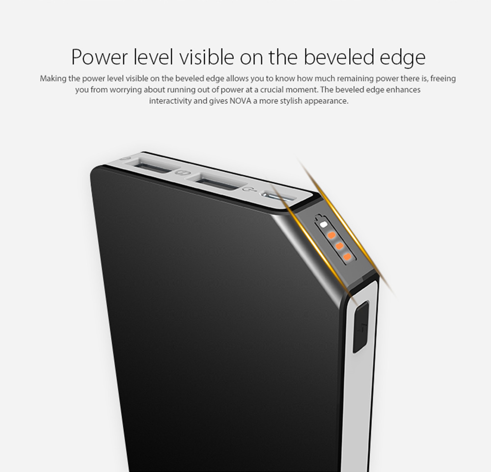 Lenovo HP01 10000mAh Mobile Power Bank Dual USB Output Slim Size