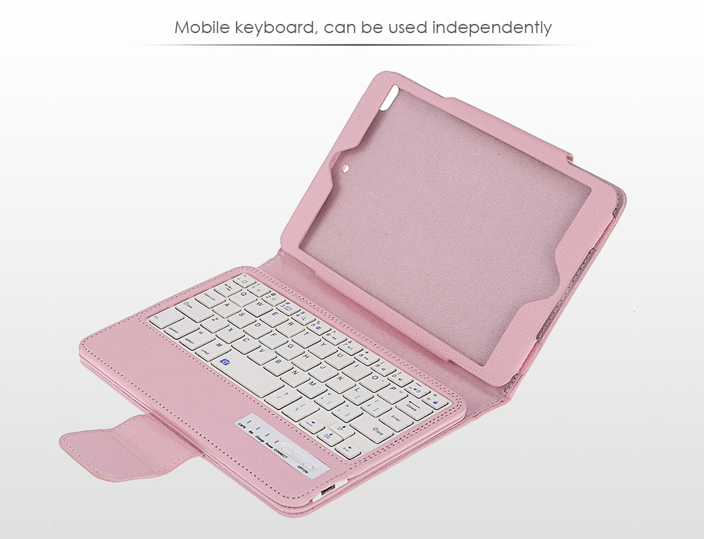 Universal Bluetooth Wireless Keyboard Tablet Cover Case for iPad mini 2 / 3 / 4