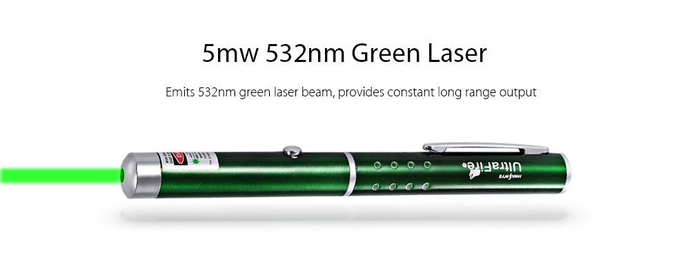 UltraFire 5mw 532nm AAA Green Laser Pointer