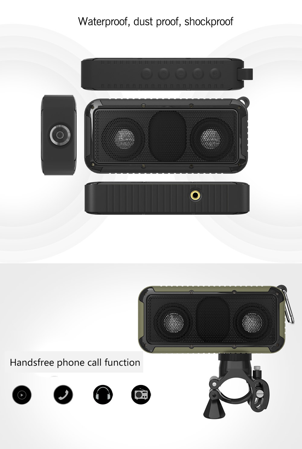 New Bee NB - S1LED Speaker Bluetooth 4.0 Portable Wireless Music Player