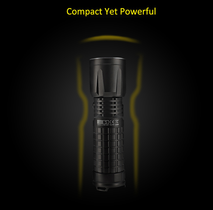 ON THE ROAD X5 Standard Cree L2 U2 5C 1000Lm Rechargeable LED Flashlight