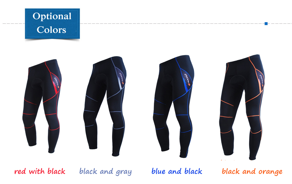 NUCKILY NS900 - W Fleece Lined Cycling Pants Thermal Compression Biking Tights