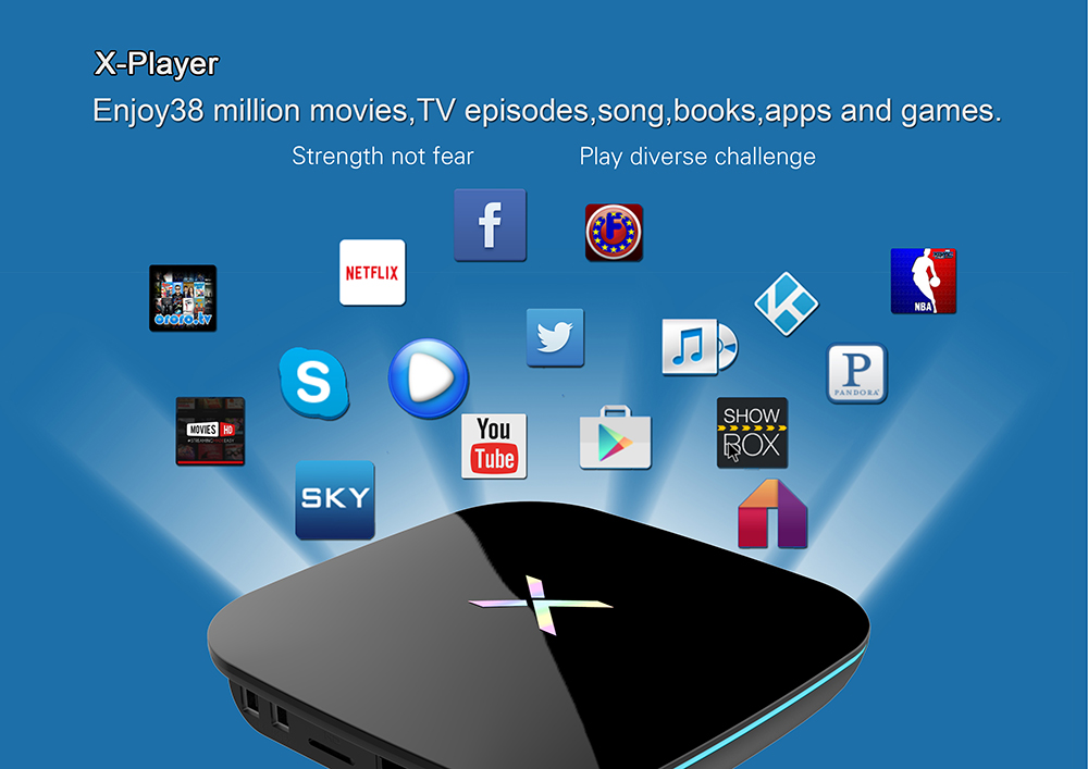 Android 6.0 TV Box Octa-core Cortex-A53 2.4G + 5G Bluetooth 4.0 16GB eMMC Hardward 3D Graphics 4K x 2K Mini PC
