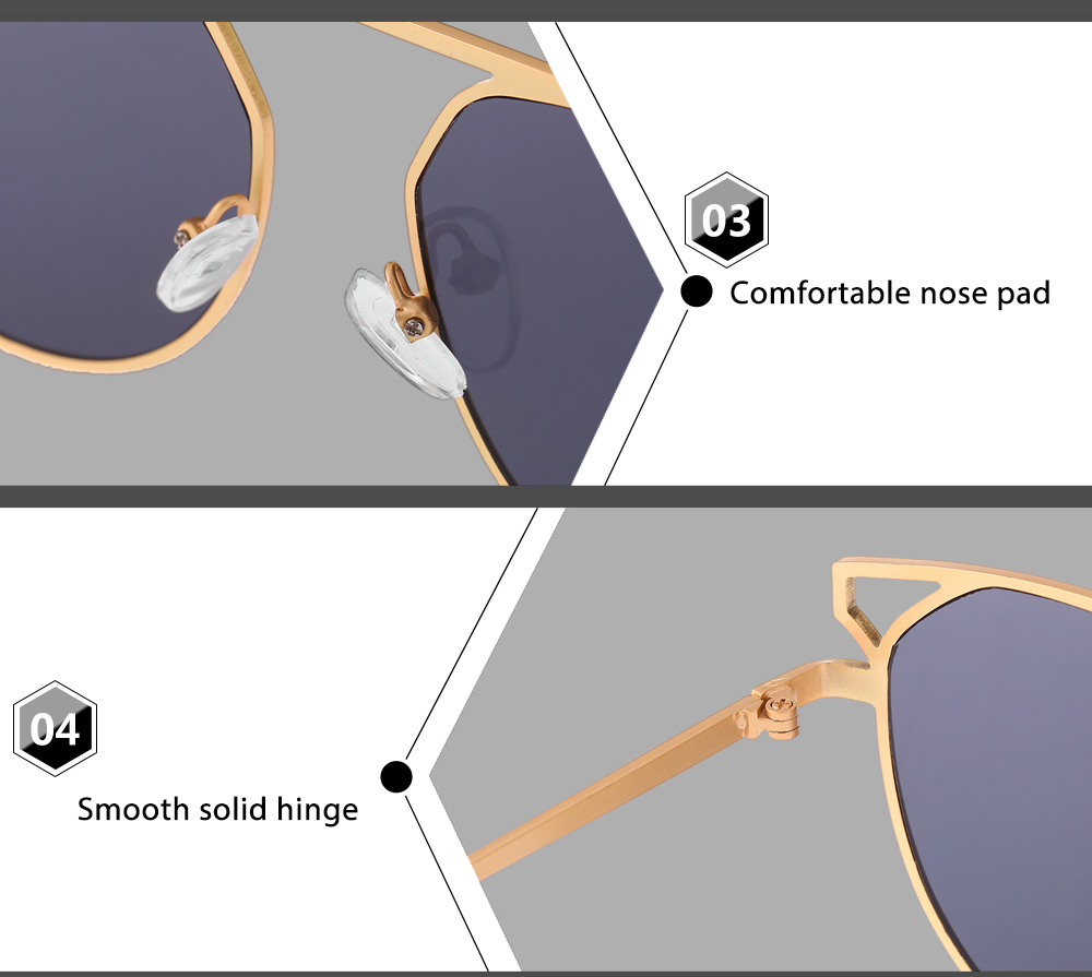 005 UV-resistant Sunglasses Eyewear with PC Lens / Metal Frame