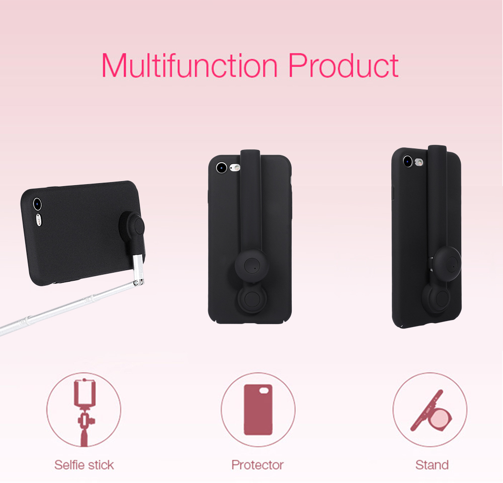M - ares Bluetooth 4.0 Selfie Stick Phone Case for iPhone 7