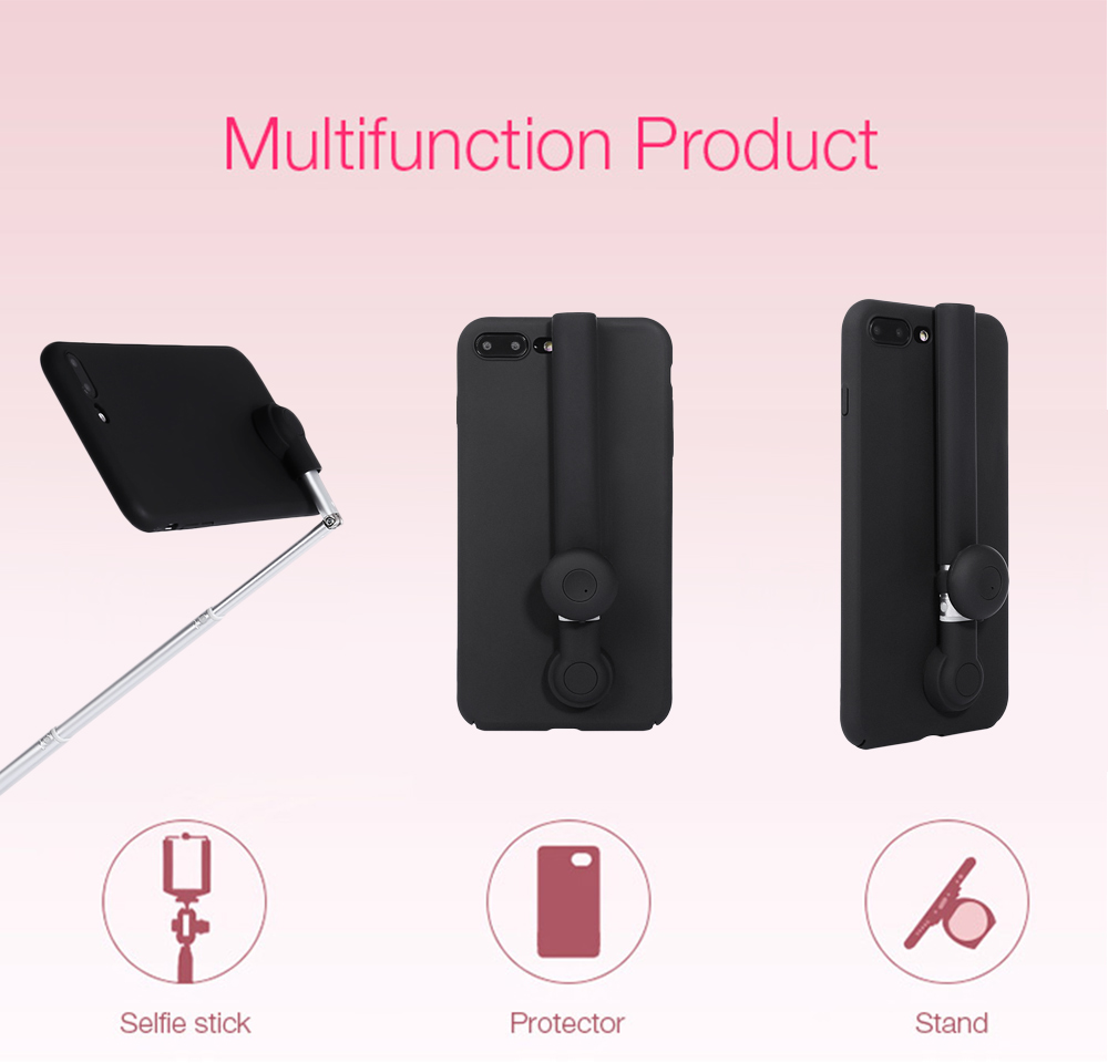 M - ares Bluetooth 4.0 Selfie Stick Phone Case for iPhone 7 Plus