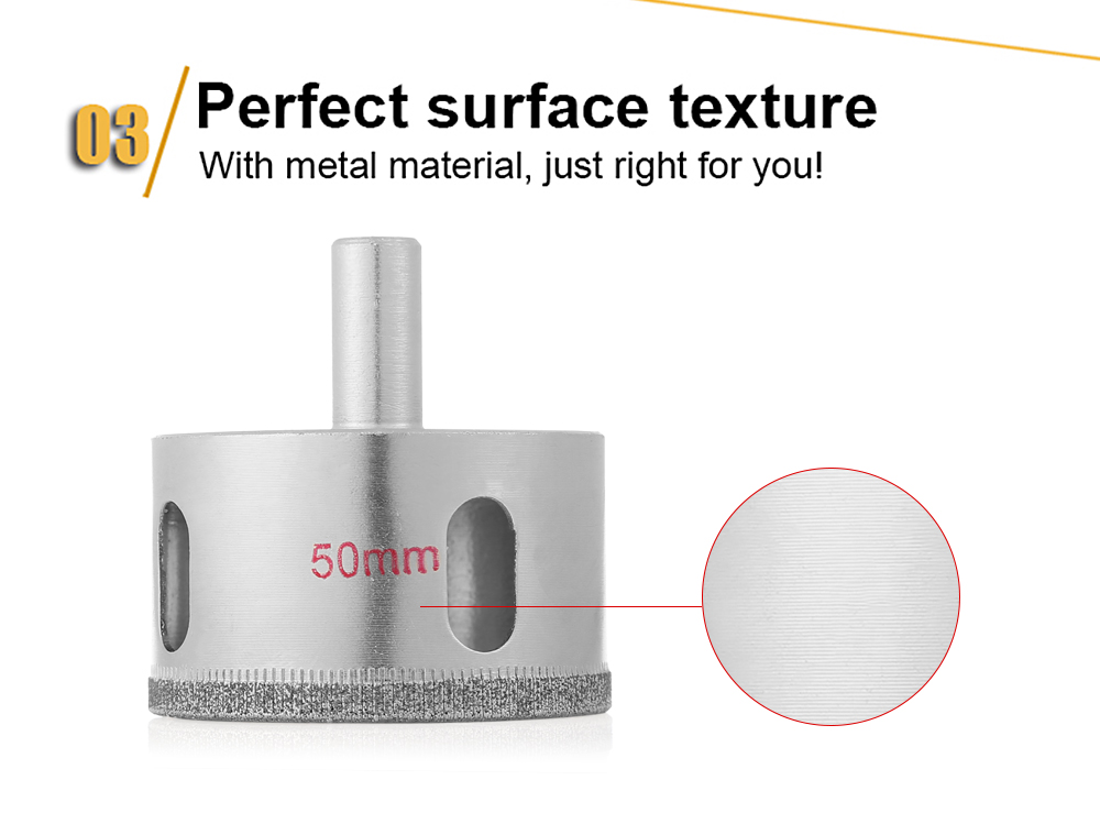 50mm Diamond Hole Saw Core Drill Bit Cutter for Ceramic Glass Marble Tile