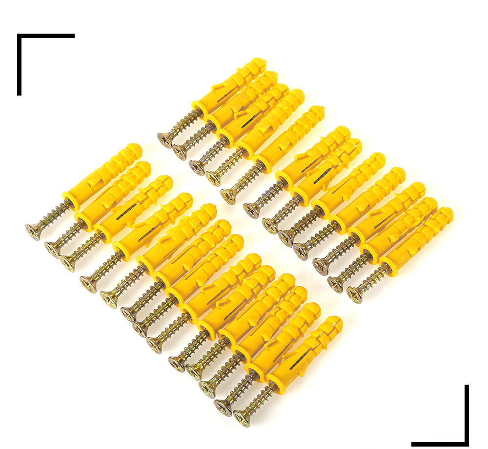 50PCS 40mm Setscrew with Plastic Expansion Tube Plug for Home Use