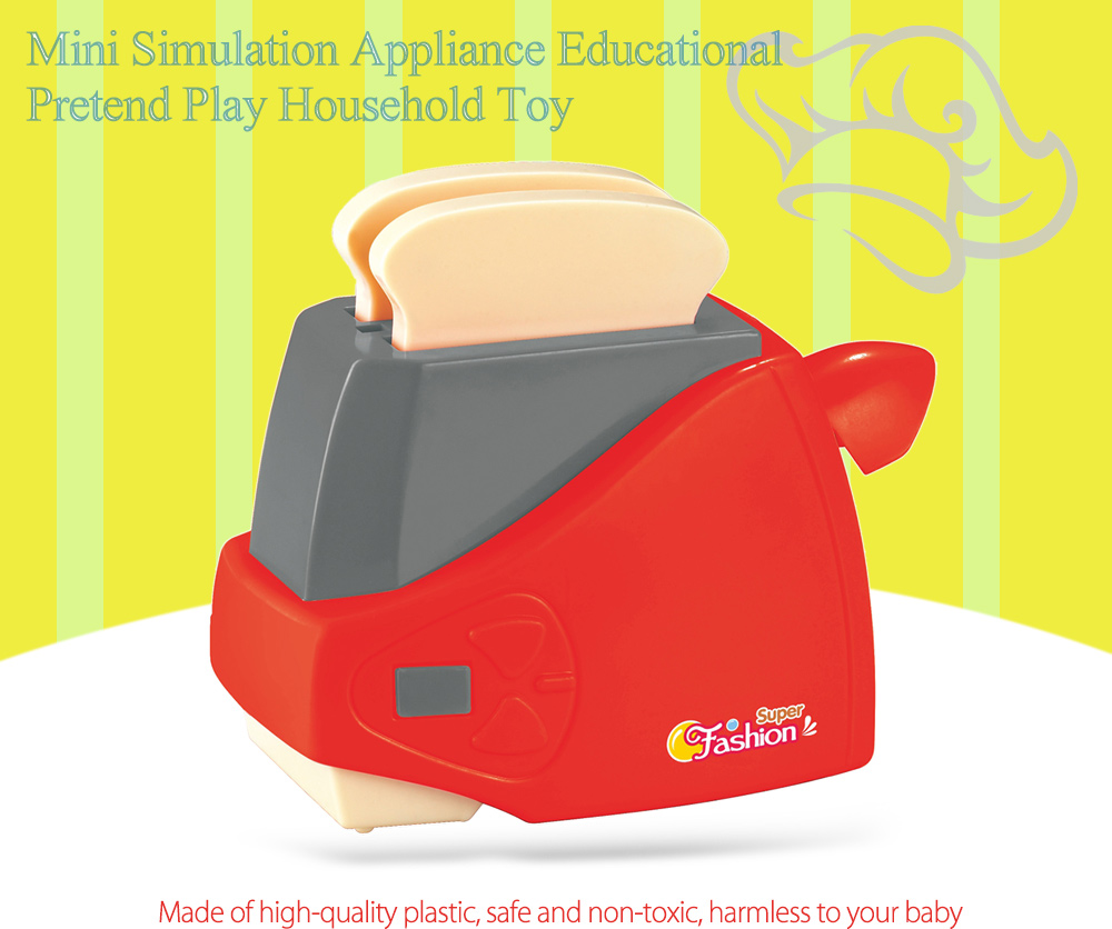 Simulation Appliance Bread Maker Educational Pretend Play Household Toy Gift