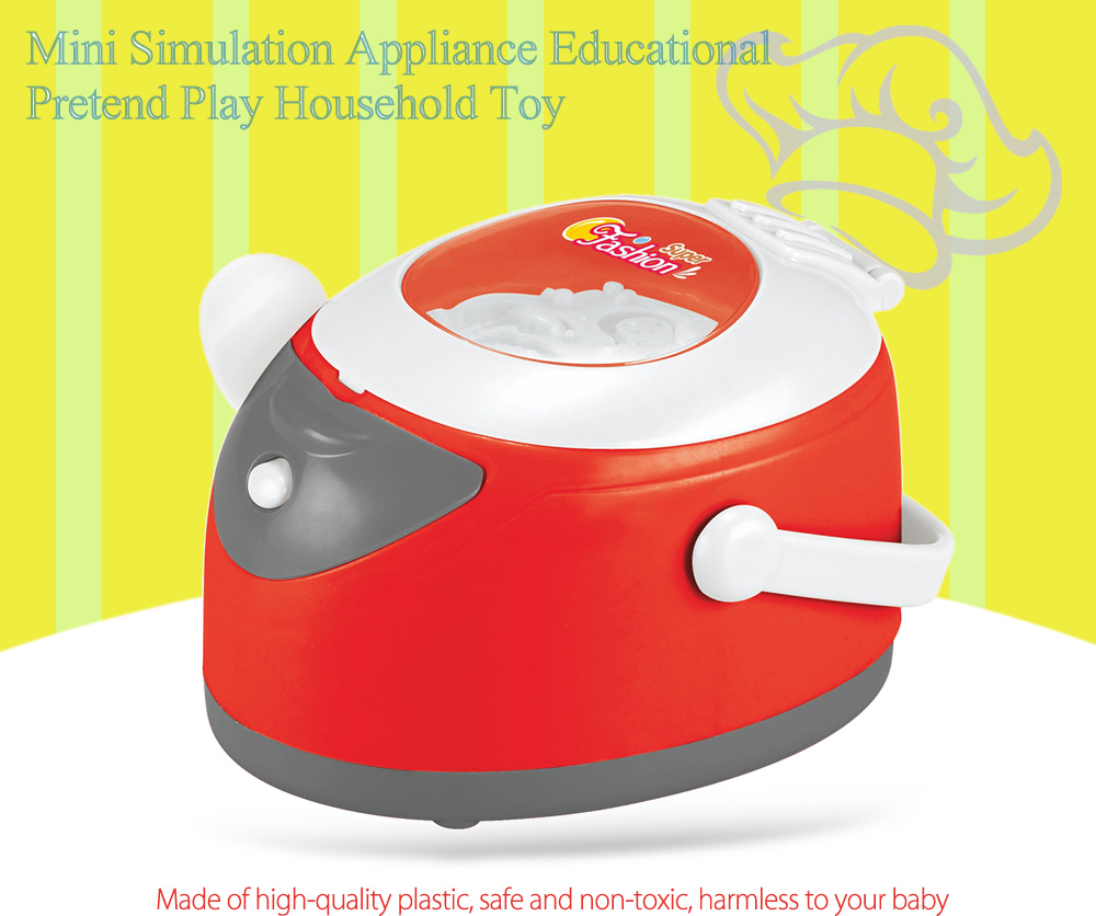 Simulation Appliance Rice Cooker Educational Pretend Play Household Toy Gift