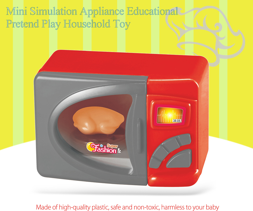 Simulation Appliance Microwave Oven Educational Pretend Play Household Toy Gift