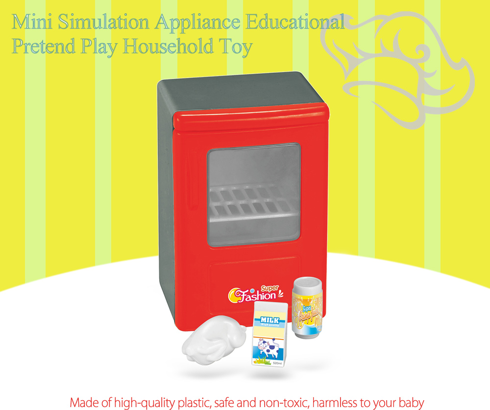 Simulation Appliance Refrigerator Educational Pretend Play Household Toy Gift