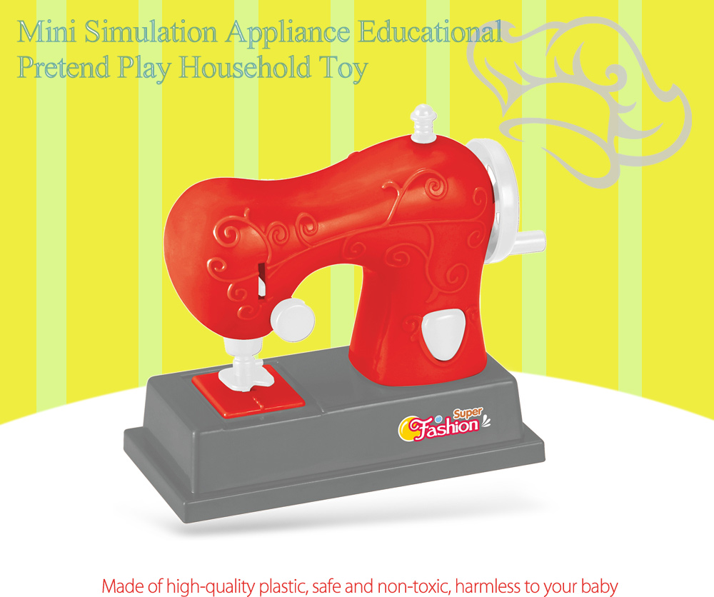 Simulation Appliance Sewing Machine Educational Pretend Play Household Toy Gift