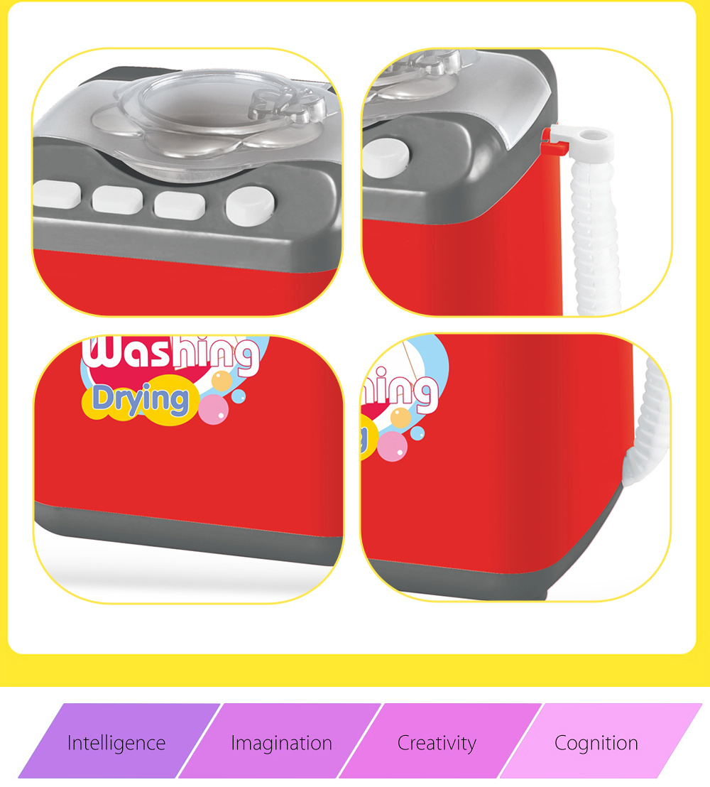 Simulation Appliance Washing Machine Educational Pretend Play Household Toy Gift