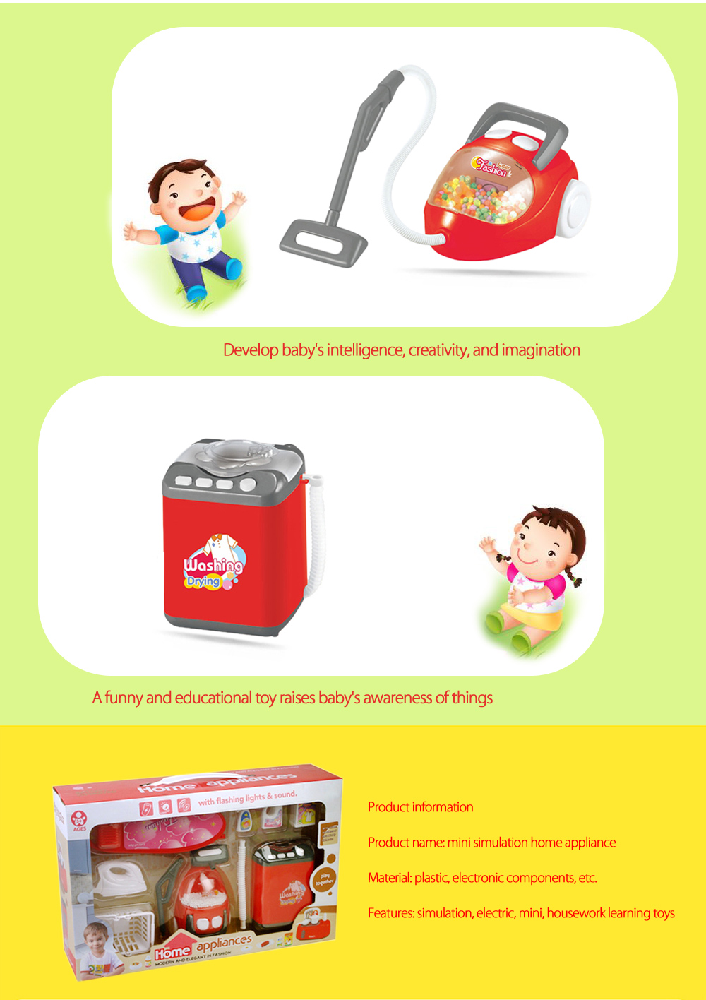 Electric Simulation Appliance Set Pretend Play Household Toy Gift