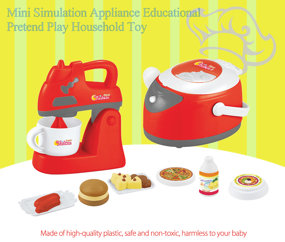 Electric Simulation Appliance Set Educational Pretend Play Household Toy