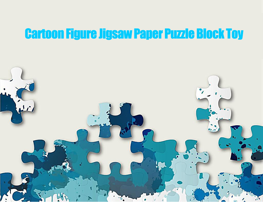 DIY Paper Cartoon Figure Style Puzzle Block Toy Birthday Christmas Gift