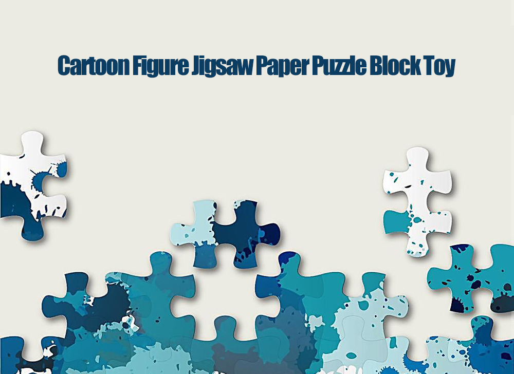 Paper Cartoon Figure Style DIY Puzzle Block Toy Christmas Gift