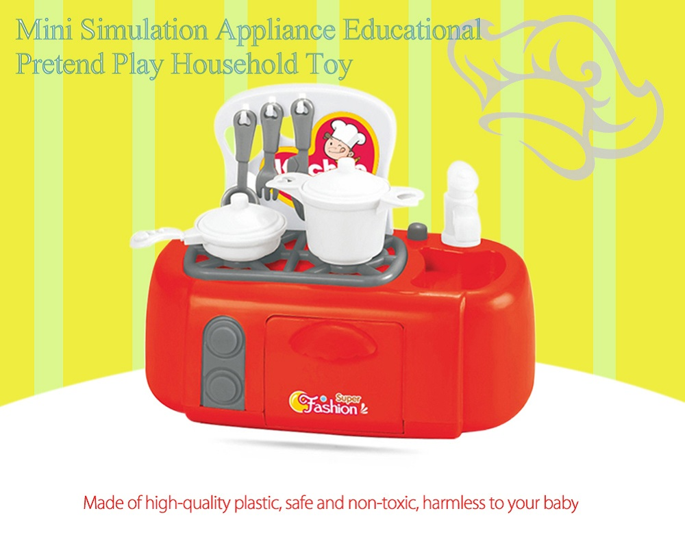 Electric Simulation Appliance Gas Stove Educational Pretend Play Household Toy Gift